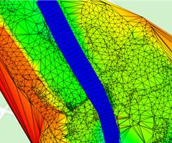 TUFLOW FV model mesh
