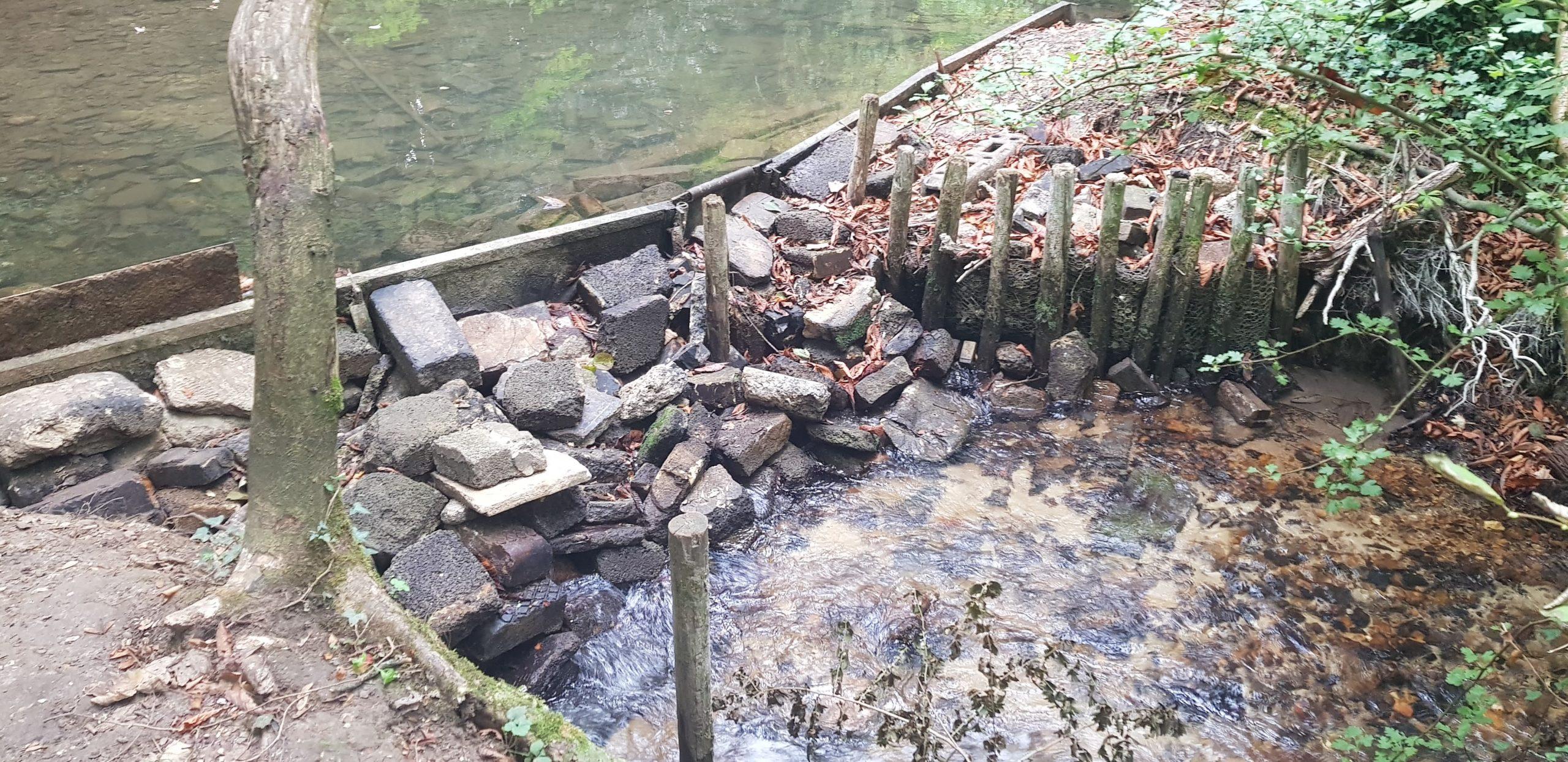 Chesapeake Mill - damaged bypass channel